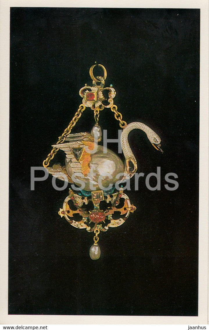Jewels - Pendant - Germany 16th Century - The Hermitage - Leningrad - Russia - USSR - 1982 - used - JH Postcards