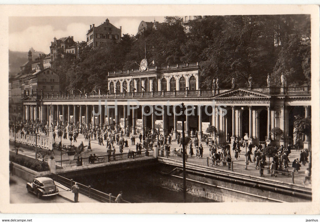 Karlovy Vary - Karlsbad - kolonada - Colonnade - old postcard - Czechoslovakia - Czech Republic - used - JH Postcards