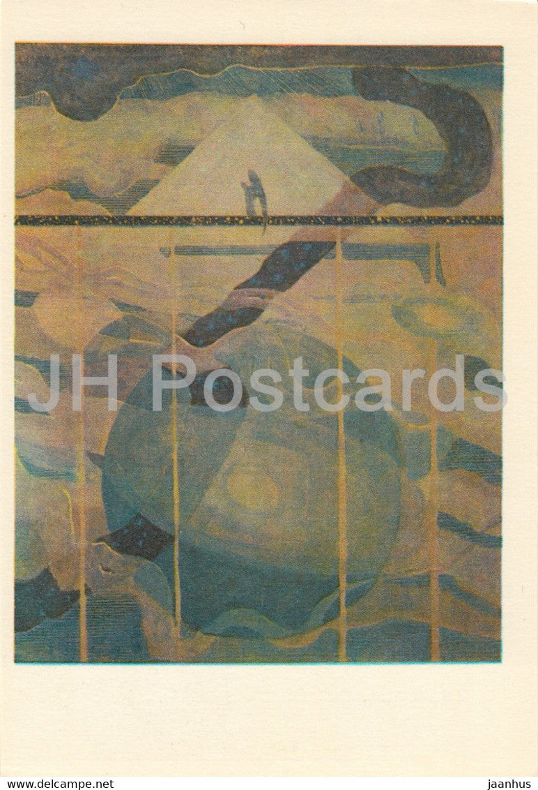 painting by M. Ciurlionis - Sonata of Stars . Andante - Lithuanian art - 1978 - Lithuania USSR - unused - JH Postcards