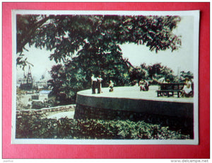 square on seaside - Odessa - 1959 - Ukraine USSR - unused - JH Postcards