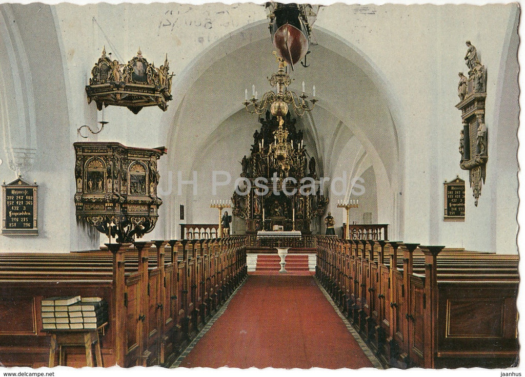 Nakskov - Interior of the Church - 40 - Denmark - used - JH Postcards