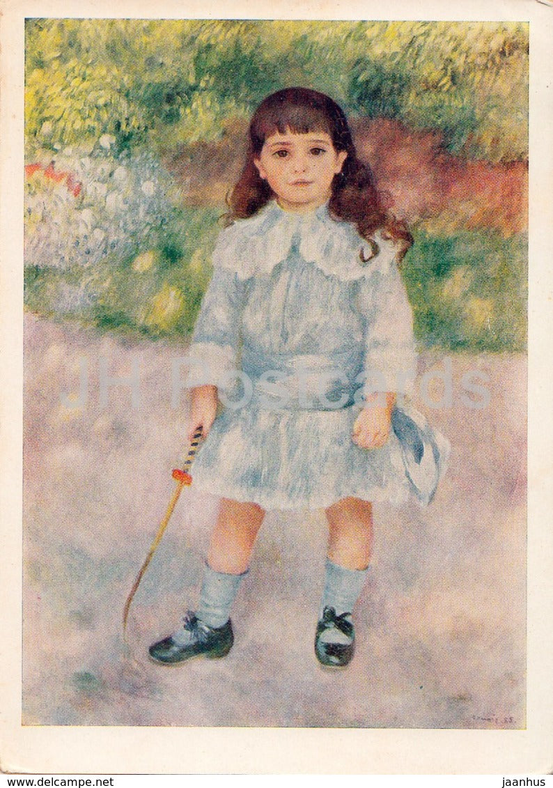painting by Pierre-Auguste Renoir - Girl with a Whip - French art - 1962 - Russia USSR - unused - JH Postcards