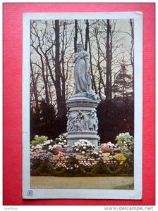 Denkmal der Königin Luise im Tiergarten - Berlin - old postcard - Germany - sent from Germany Berlin to Imperial Russia - JH Postcards
