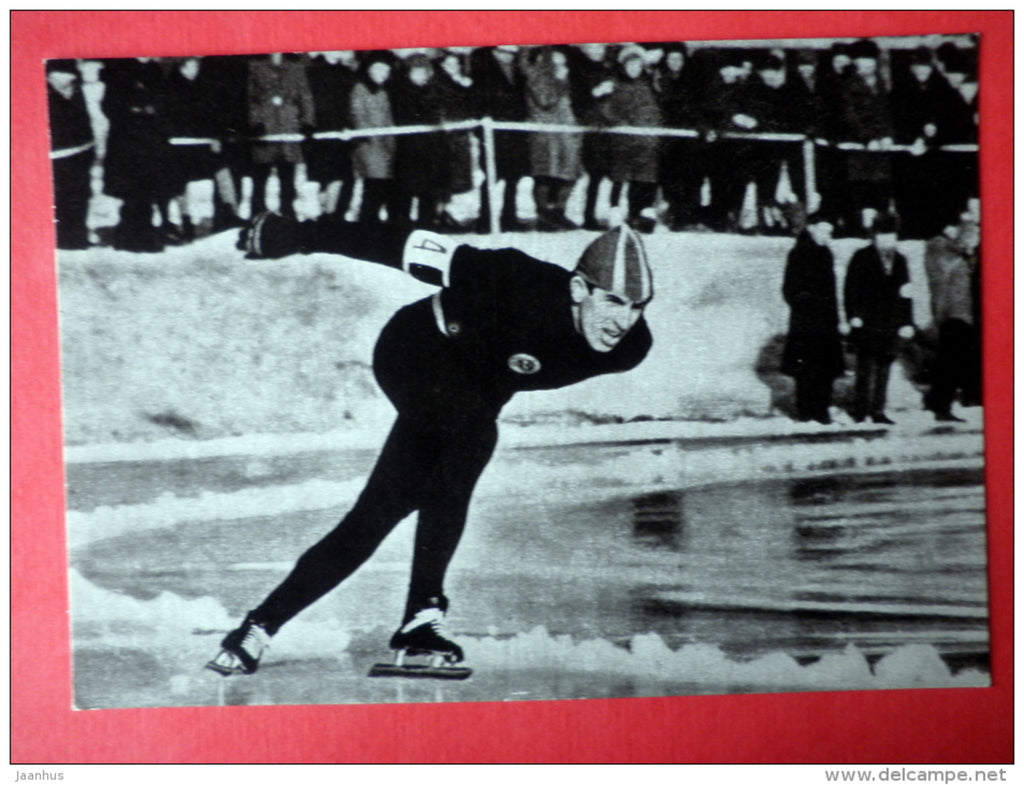 Ants Antson - speed-skating - Innsbruck 1964 - Estonian Olympic medal winners - 1979 - Estonia USSR - unused - JH Postcards