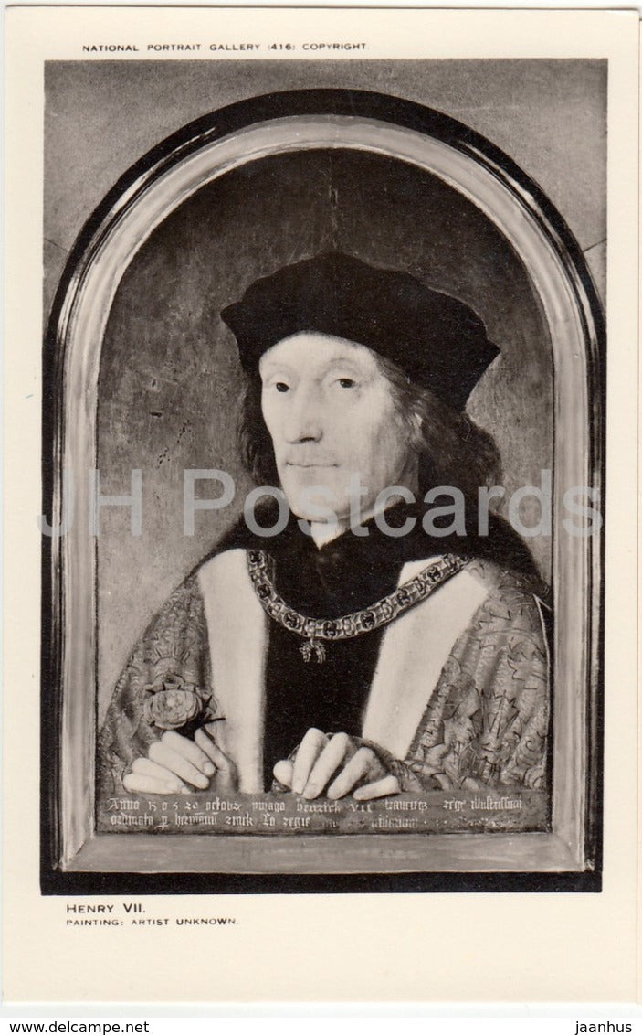 Painting by Unknown Artist - King Henry VII - National Portrait Gallery - english art - United Kingdom - England - used - JH Postcards