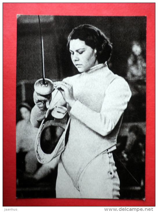 Svetlana Chirkova - fencing - Mexico 1968 - Estonian Olympic medal winners - 1979 - Estonia USSR - unused - JH Postcards
