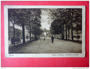 Mittelpromenade - Unter d Linden - Berlin - old postcard - Germany - sent from Germany Berlin to Leningrad Russia 1925 - JH Postcards