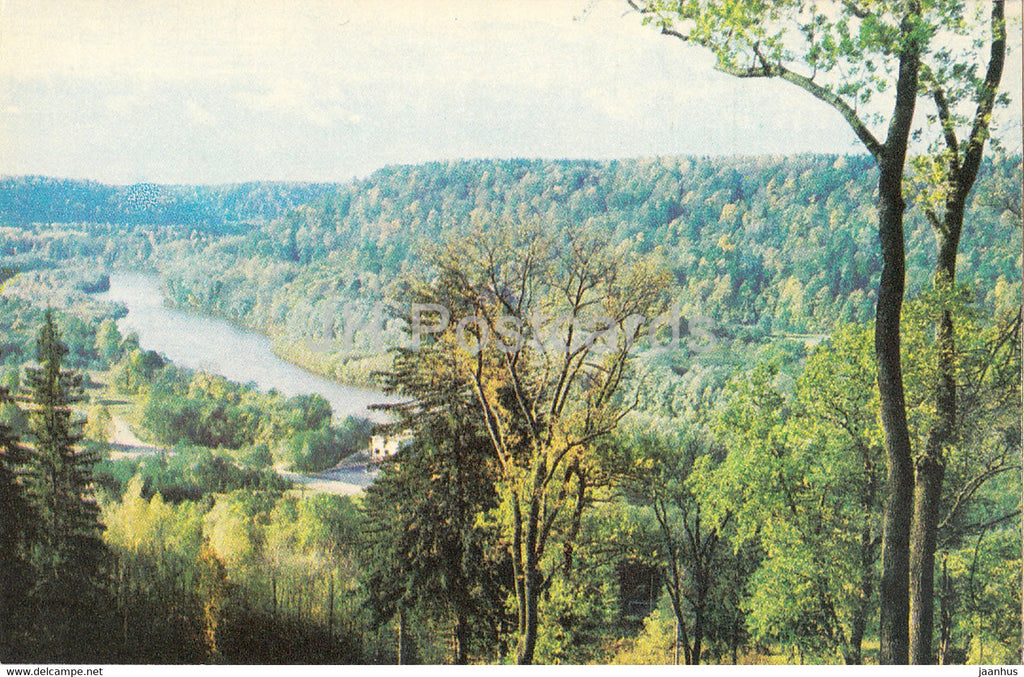 The Gauja National Park - View on the Gauja from Launaga Rock - 1976 - Latvia USSR - unused - JH Postcards