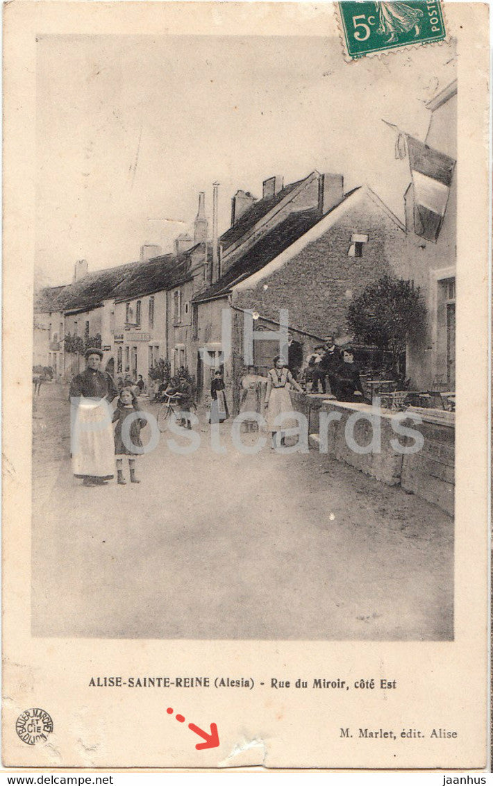 Alise Sainte Reine - Rue du Miroir - core est  - old postcard - 1910 - France - used - JH Postcards