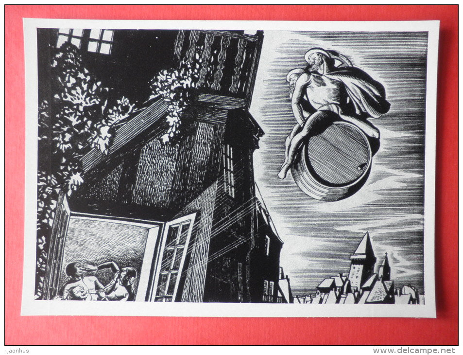 illustration by Rockwell Kent - Faust by Goethe . 1938 - art of USA - unused - JH Postcards