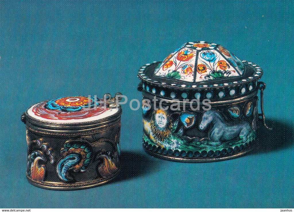 Box - Solvychegodsk - Russian Silver Craft - art - 1986 - Russia USSR - used - JH Postcards