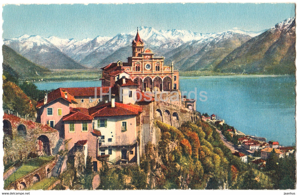 Locarno - Madonna del Sasso - 3767 - old postcard - Switzerland - unused - JH Postcards