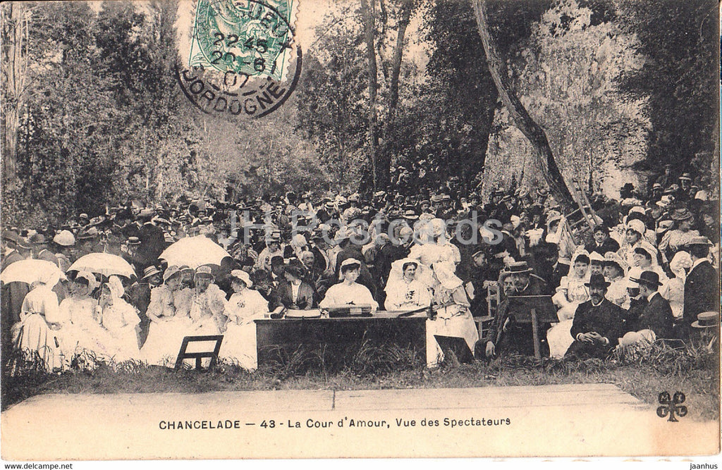 Chancelade - La Cour d'Amour - Vue des Spectateurs - 43 - old postcard - 1907 - France - used - JH Postcards