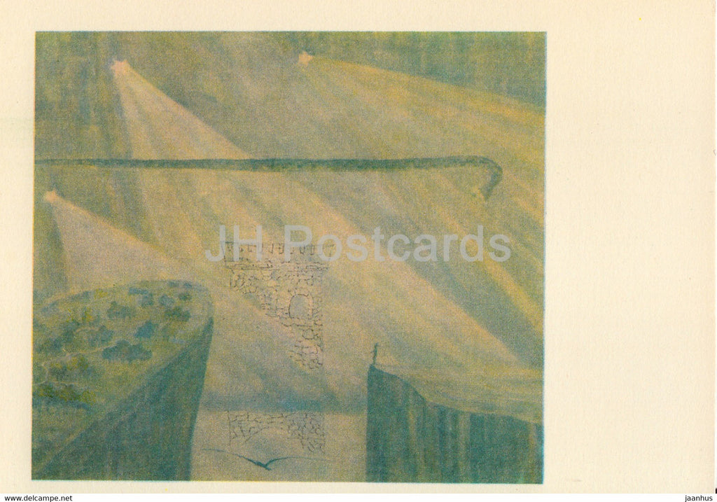 painting by M. Ciurlionis - Sonata of the Grass Snake . Andante - Lithuanian art - 1978 - Lithuania USSR - unused - JH Postcards