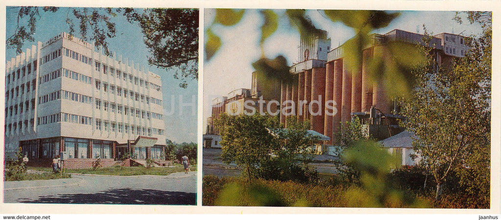 Kostanay - House of Services Express - Pantry of Kostanay grain - 1985 - Kazakhstan USSR - unused - JH Postcards