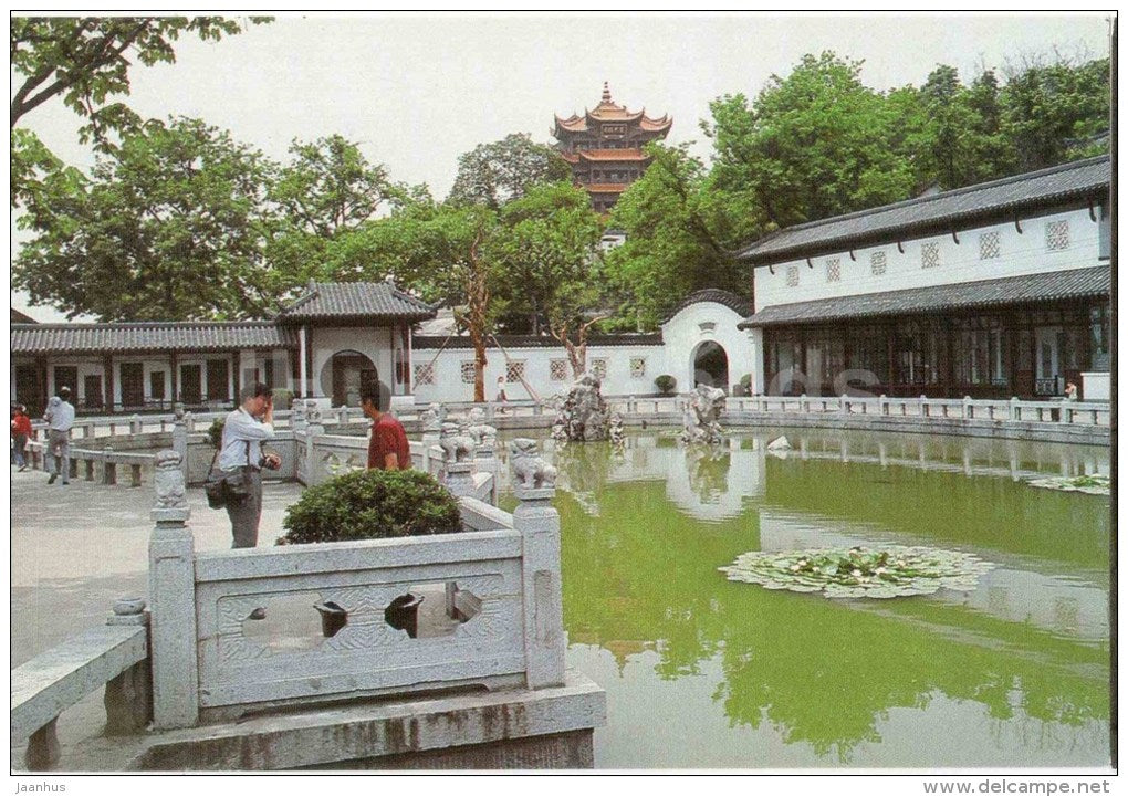 Yellow Crane Tower Park - The Yellow Crane Tower - Wuhan - 1980s - China - unused - JH Postcards
