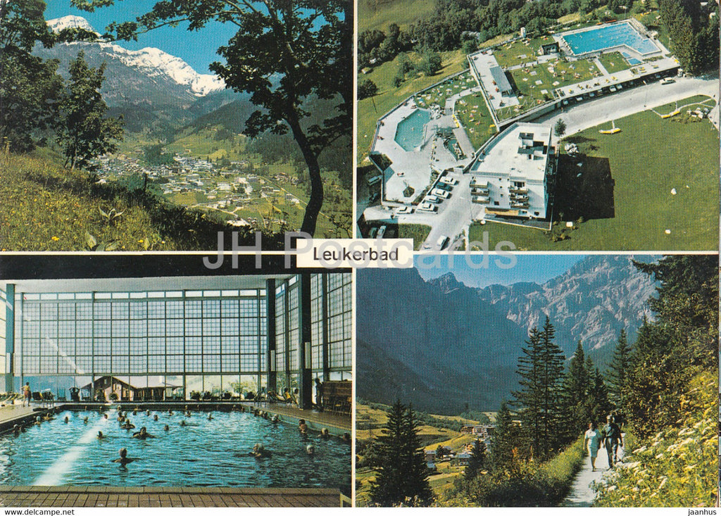 Leukerbad 1401 m - Loeche les Bains - multiview - pool - 50802 - 1972 - Switzerland - used - JH Postcards