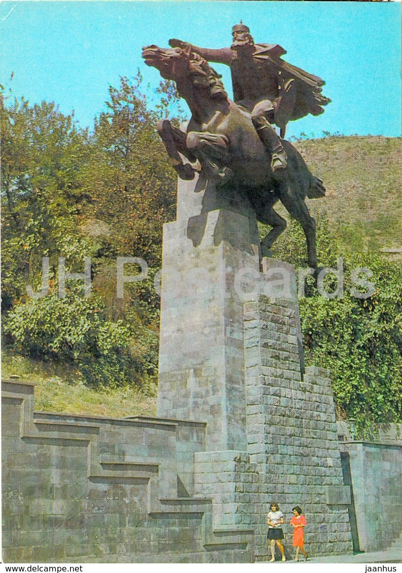 Kapan - monument to David Bek - AVIA - postal stationery - 1980 - Armenia USSR -  unused - JH Postcards