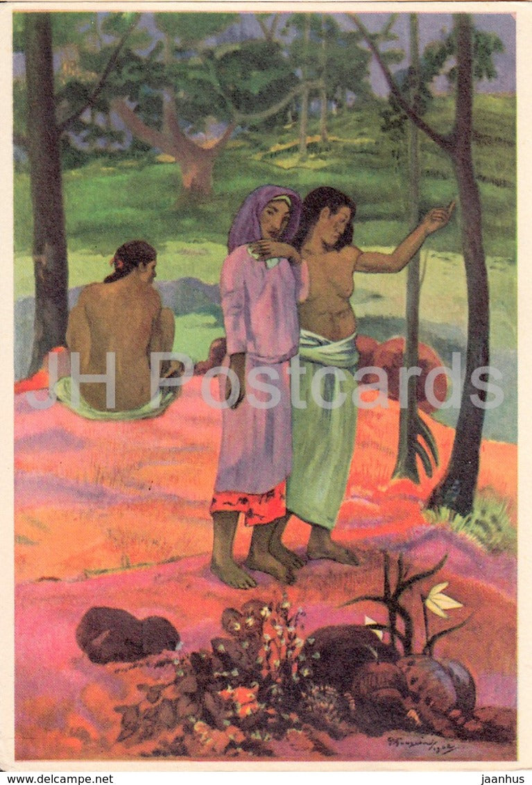 painting by Paul Gauguin - The Call - French art - France - unused - JH Postcards