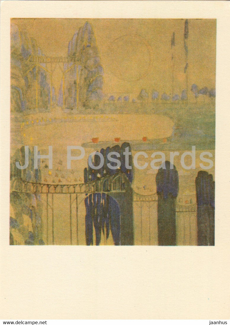 painting by M. Ciurlionis - Sonata of the Sun . Scherzo - Lithuanian art - 1978 - Lithuania USSR - unused - JH Postcards