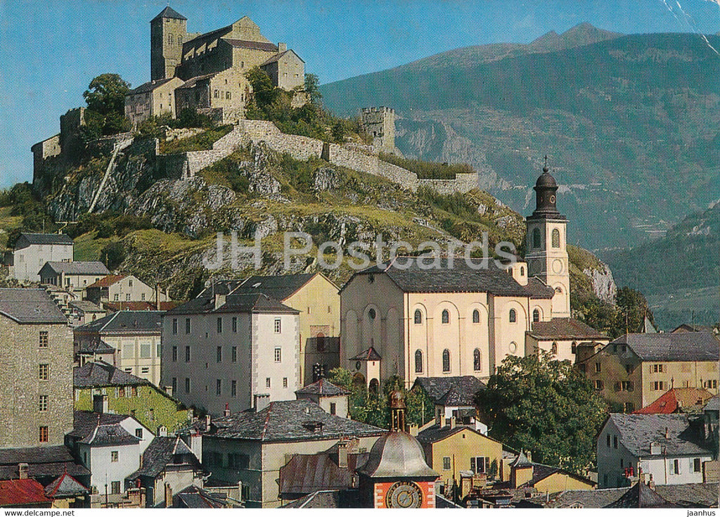 Sion et le Chateau de Valere - castle - 5492 - 1979 - Switzerland - used - JH Postcards