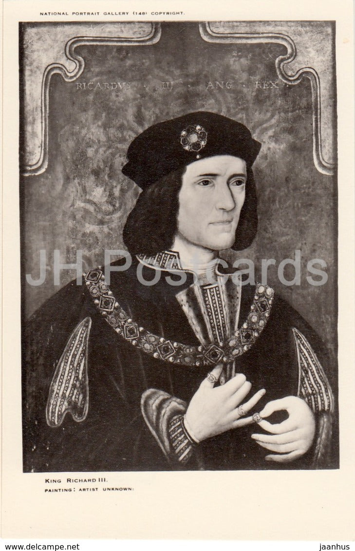 Painting by Unknown Artist - Richard III - National Portrait Gallery - english art - United Kingdom - England - used - JH Postcards