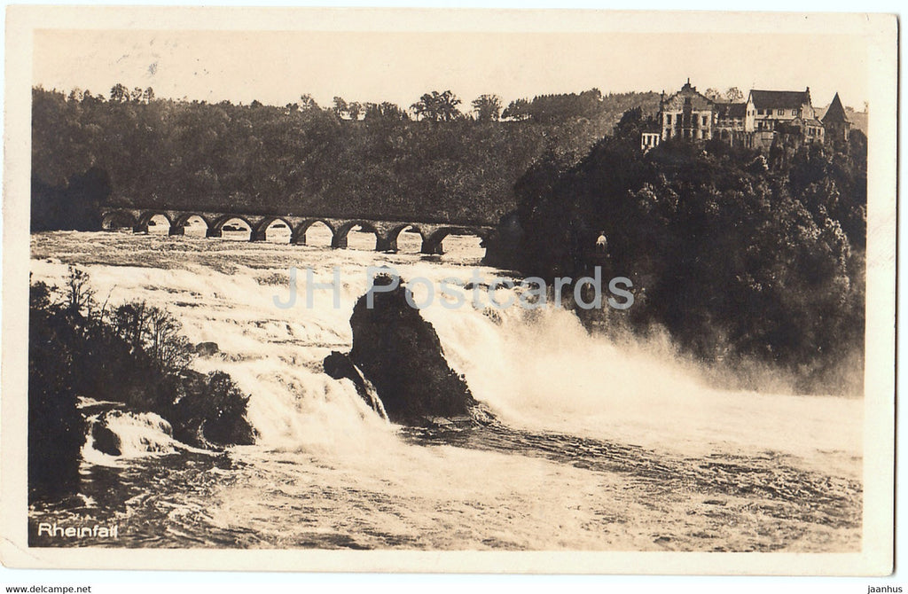Rheinfall - 4788 - old postcard - 1928 - Switzerland - used - JH Postcards