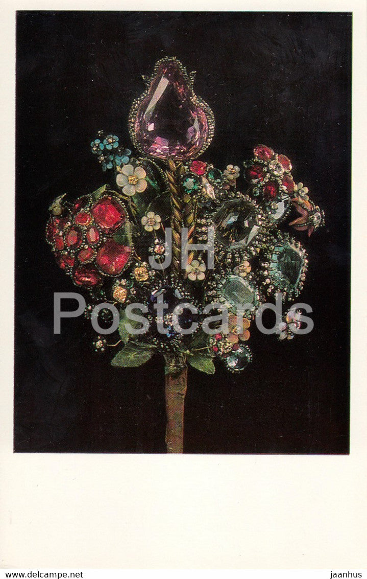 Jewels Bouquet, 1740s Russia - The Hermitage - Leningrad - Russia - USSR - 1982 - used - JH Postcards
