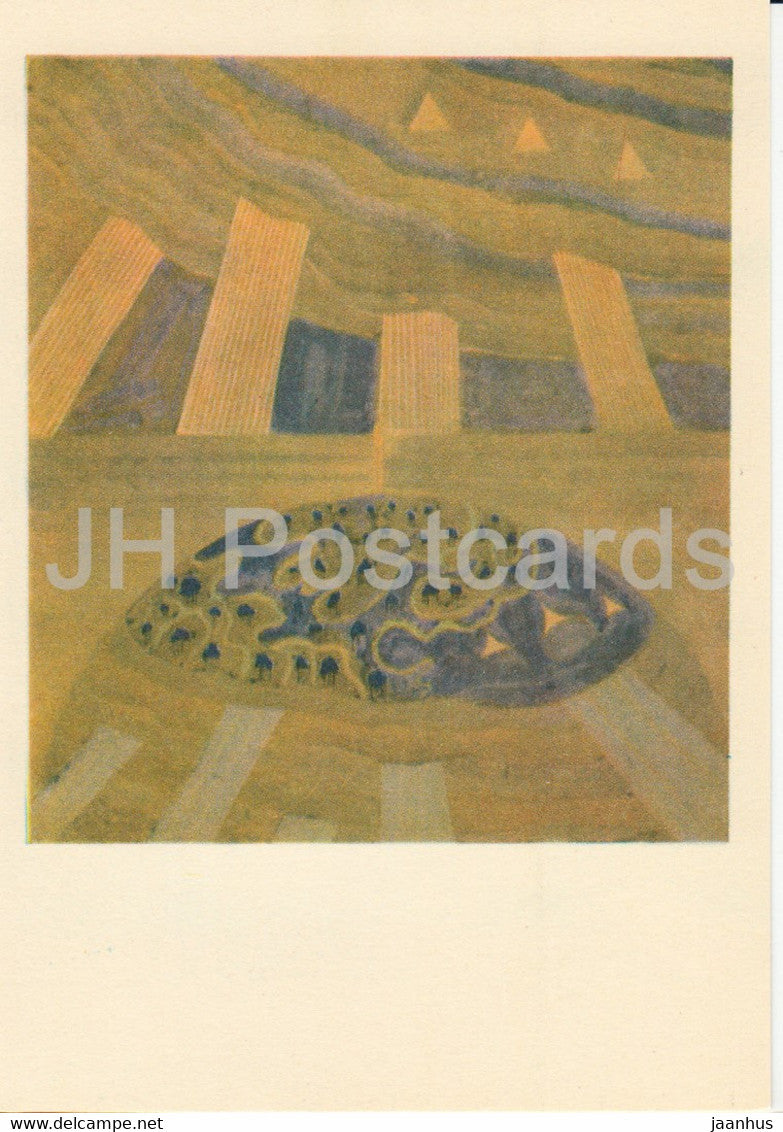 painting by M. Ciurlionis - Sonata of the Sun . Andante - Lithuanian art - 1978 - Lithuania USSR - unused - JH Postcards