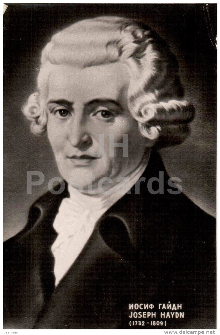 Austrian composer Joseph Haydn - music - photo - 1959 - Russia USSR - unused - JH Postcards