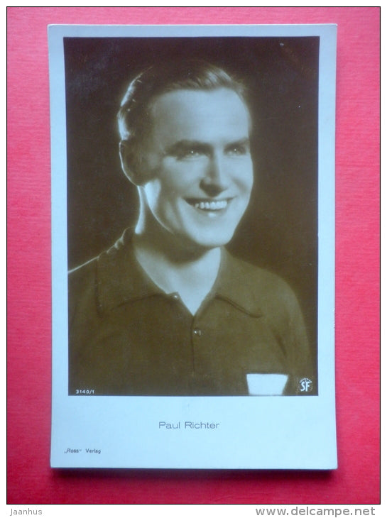 Paul Richter - austrian movie actor - film - Verlag Ross - 3140/1 - old postcard - Germany - unused - JH Postcards