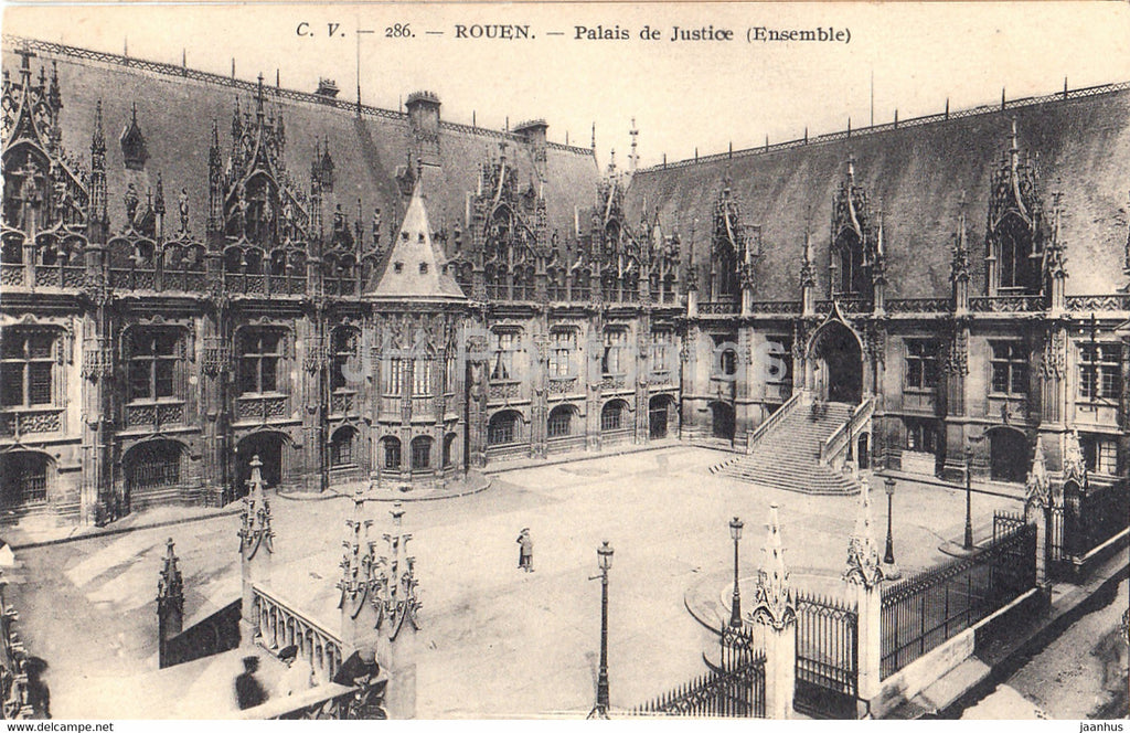 Rouen - Palais de Justice - ensemble - old postcard - France - unused - JH Postcards