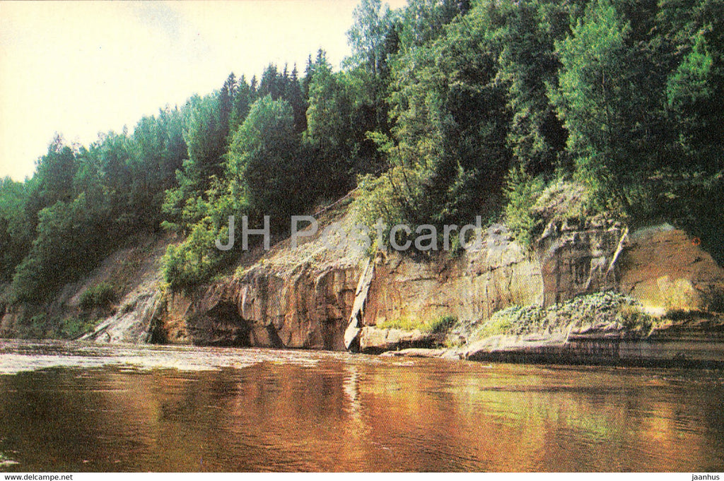 The Gauja National Park - Kuku Rock - 1976 - Latvia USSR - unused - JH Postcards