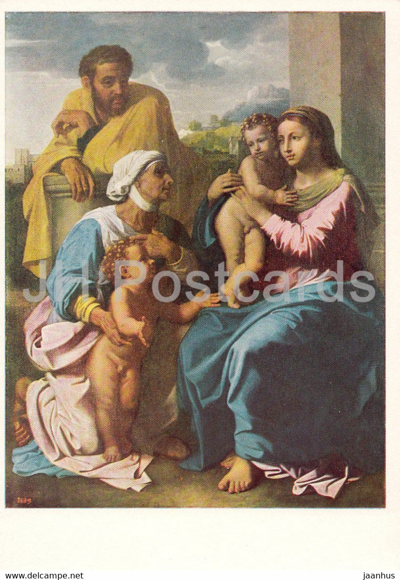painting by Nicolas Poussin - The Holy Family - French art - 1966 - Russia USSR - unused - JH Postcards