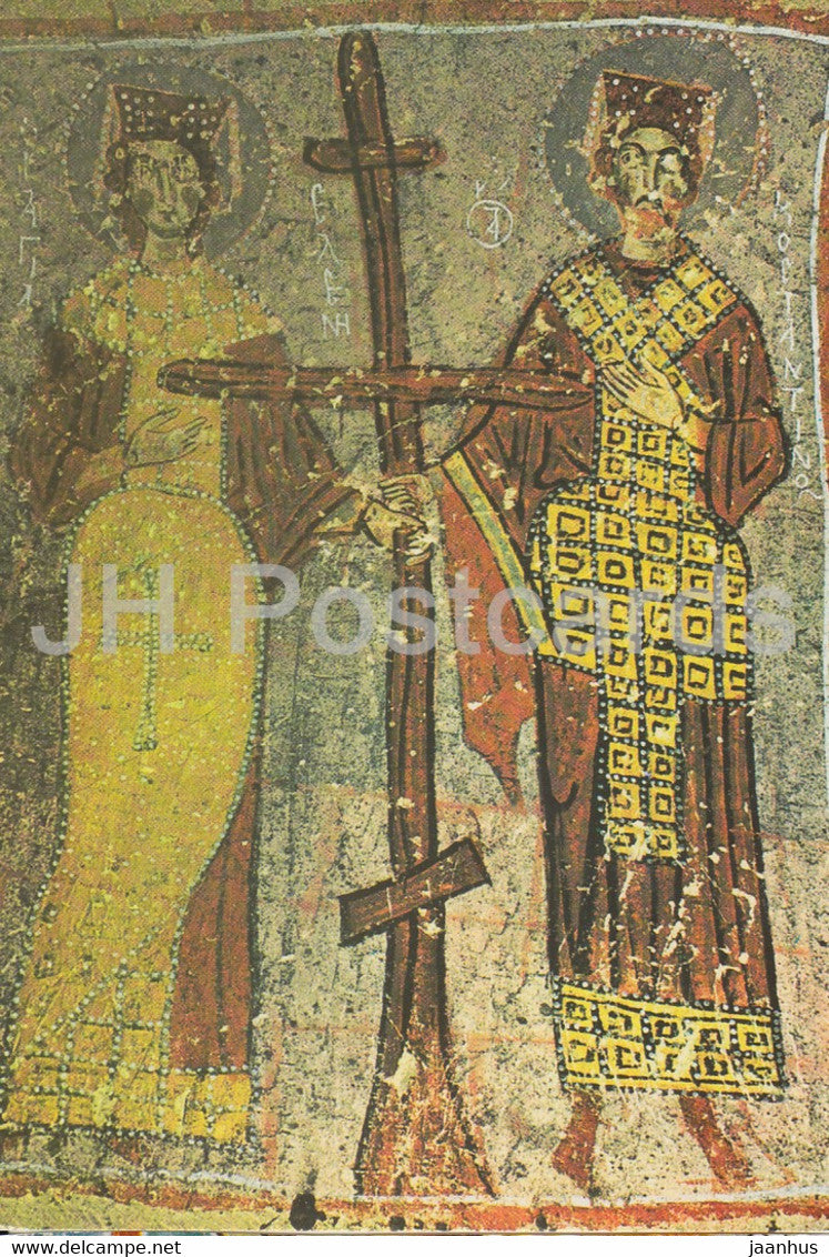 Goreme - Nevsehir - A Fresco from the Elmali Church - ancient art - 1990s - Turkey - used - JH Postcards