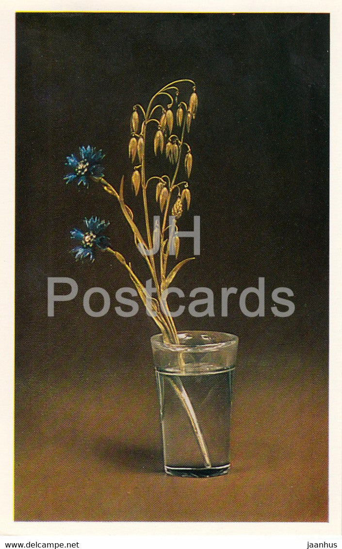 Jewels - Spray of Cornflowers - Fabergé - The Hermitage - Leningrad - Russia - USSR - 1982 - used - JH Postcards