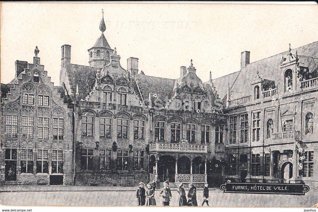 Furnes - Veurne - Hotel de Ville - old postcard - Belgium - unused - JH Postcards