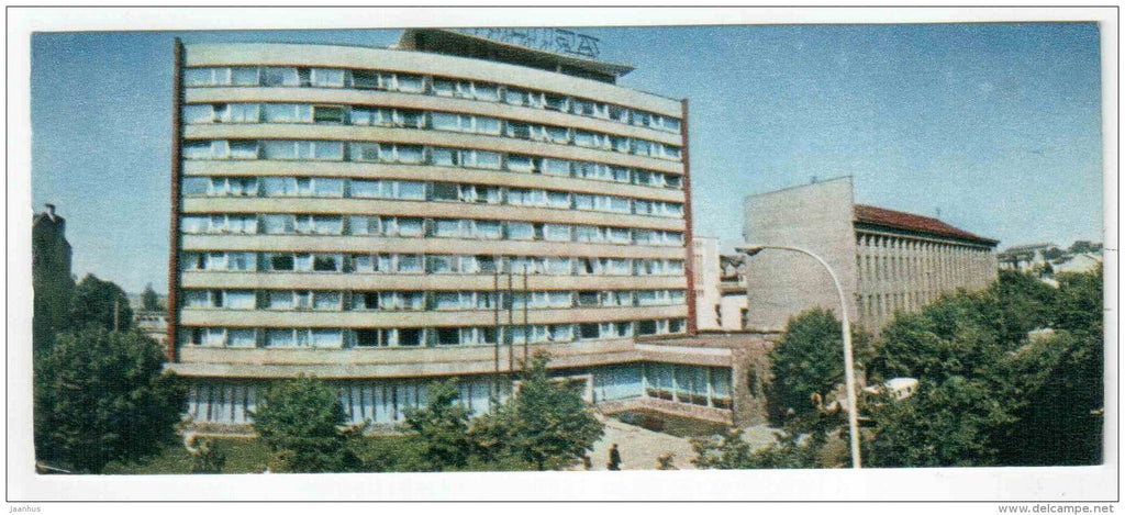 hotel Baltija - Kaunas - mini postcard - 1971 - Lithuania USSR - unused - JH Postcards