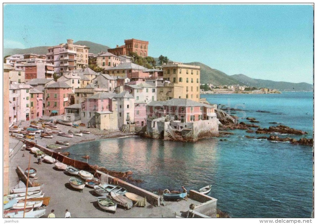 Boccadasse - boat - Genova - Liguria - 18 - Italia - Italy - sent from Italy to Germany 1956 - JH Postcards