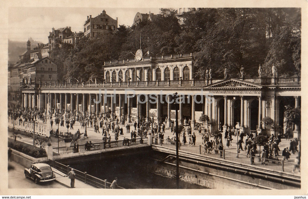 Karlovy Vary - Karlsbad - kolonada - Colonnade - 593 - old postcard - 1956 - Czechoslovakia - Czech Republic - unused - JH Postcards