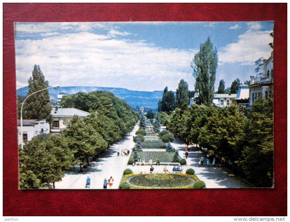 50th Anniversary of October Revolution Avenue - Kislovodsk - 1971 - Russia USSR - unused - JH Postcards