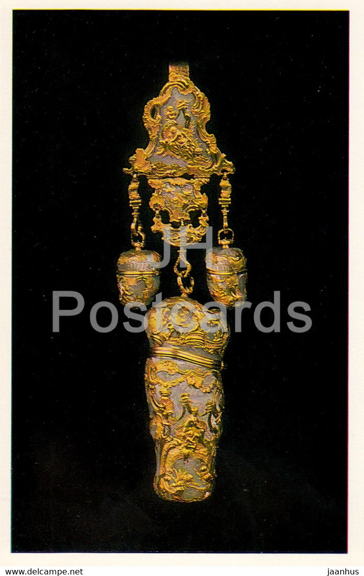 Jewels - Gold Etui - France 18th Century - The Hermitage - Leningrad - Russia - USSR - 1982 - used - JH Postcards