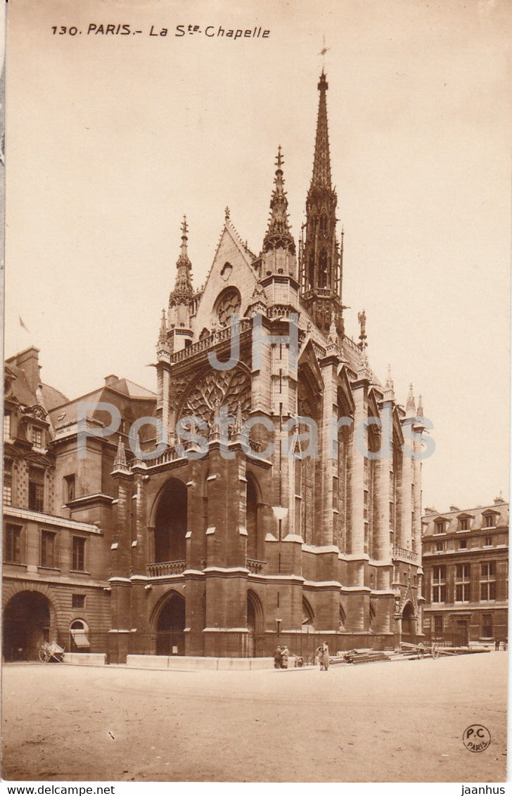 Paris - La Ste Chapelle - 130 - old postcard - France - unused - JH Postcards