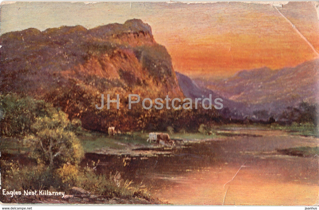 Killarney - Eagles Nest - old postcard - 1908 - Ireland - used - JH Postcards
