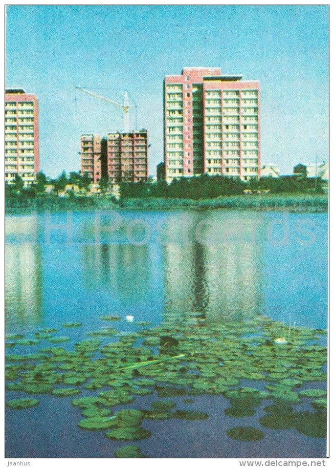 New Jugla - Riga - old postcard - Latvia USSR - unused - JH Postcards