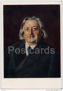 painting by K. Makovsky - Portrait of Russian Singer O. Petrov , 1870 - Russian art - 1963 - Russia USSR - unused - JH Postcards