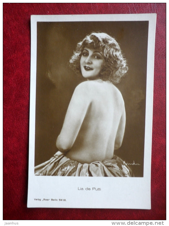 hungarian movie actress - Lia de Putti - cinema - 1029/1 - old postcard - Germany - unused - JH Postcards
