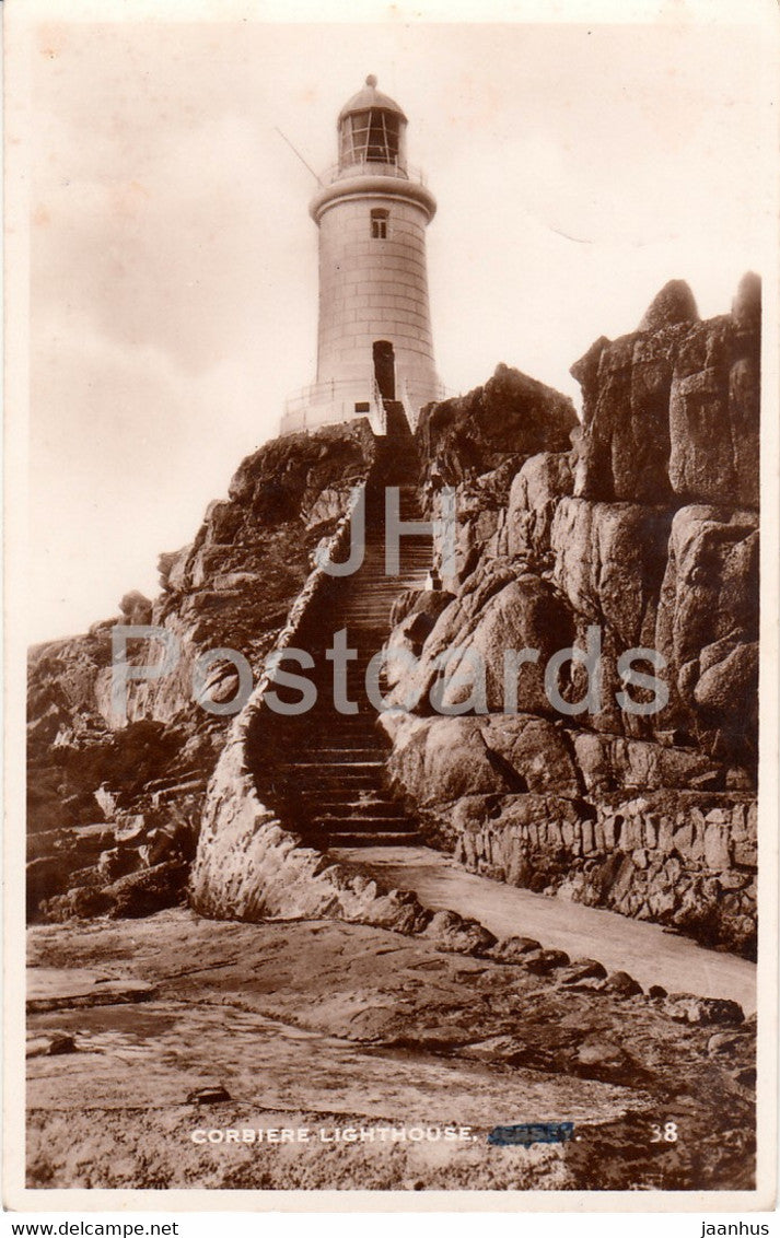 Corbiere Lighthouse - 38 - old postcard - Jersey - United Kingdom - used - JH Postcards