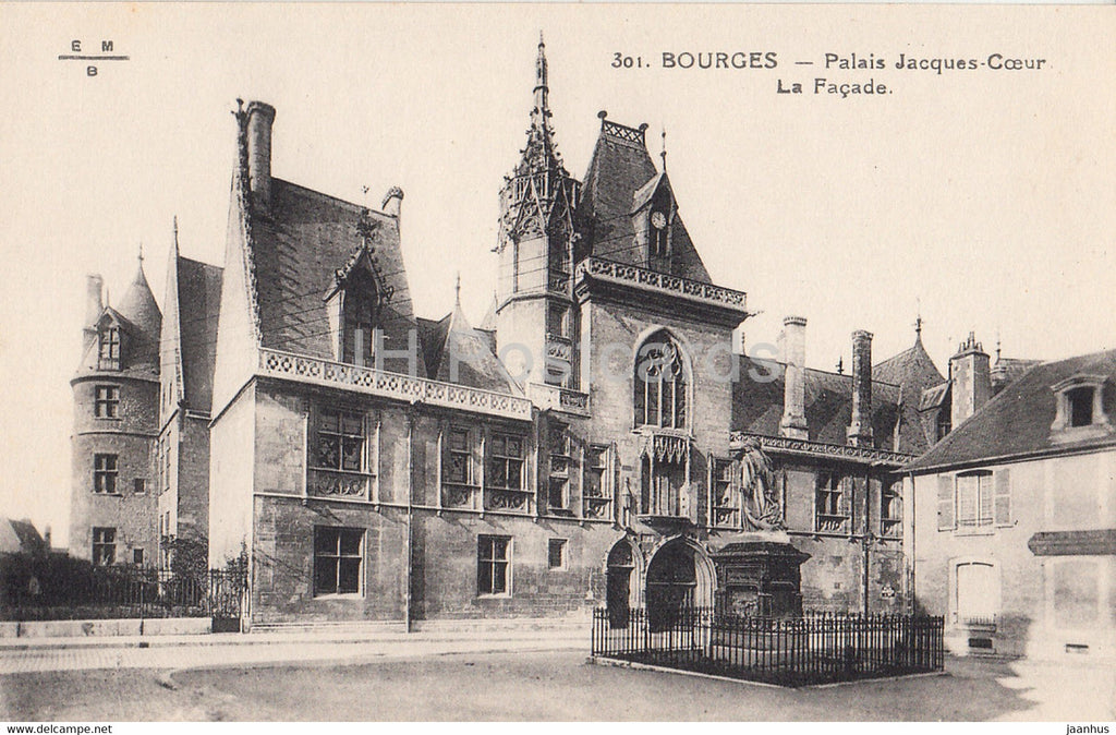 Bourges - Palais Jacques Coeur La Facade - 301 - old postcard - France - unused - JH Postcards