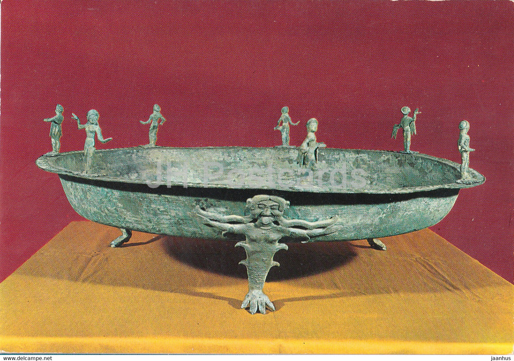 Museo Etrusco - Chiusi - Bronze Cup - Etruscan Museum - ancient art - Italy - Italia - unused - JH Postcards
